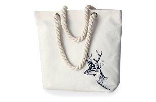 Populární plátěná taška se zajímavým potiskem - různé druhy