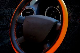 Koženkový potah na volant - 5 barev