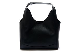 Černá kožená kabelka Isabella Rhea Ravenea - doprava zdarma!