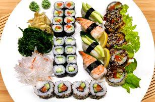 Jedna dobrota vedle druhé: pestrý sushi set