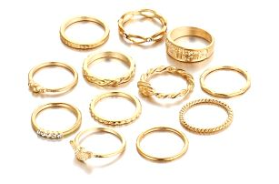 Sada prstenů pro ženy - 12 ks