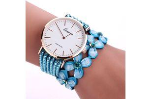 Dámské vícevrstvé hodinky s květinami - 9 barev