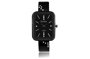 Dámské kovové hodinky s hranatým ciferníkem - 2 barvy