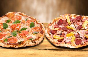 2 křupavé a voňavé pizzy až k vám domů