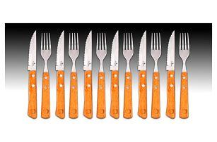 Sada šesti steakových nožů a šesti vidliček