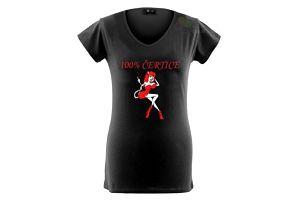 Tričko dámské - 100% čertice - M