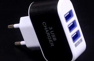 Nabíječka se 3 USB porty - 5 barev