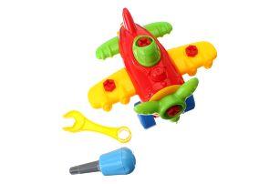 Dětské letadýlko s nástroji pro rozmontování a smontování