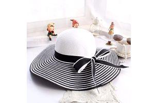 Dámský letní klobouk s proužky - 2 provedení