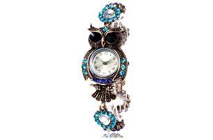 Dámské hodinky se sovičkou na ciferníku