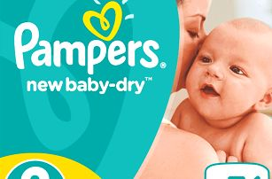 PAMPERS New Baby-Dry 2 Mini (3-6 kg) 76 ks – jednorázové pleny