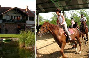 Pobyt pro dva s jízdou na koni nedaleko Budapešti. Bez stravy.
