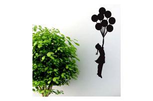 Samolepka na zeď Banksy - Dívka s balónky
