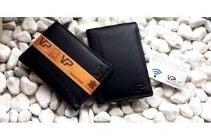 Kožená peněženka GEORGE Passport a pouzdro na karty