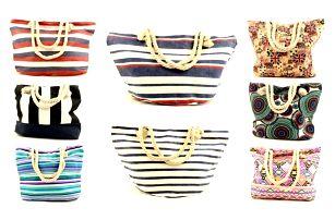 Stylová plážová taška z jutoviny s 9 různými motivy