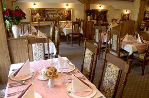 Romantický pobyt na 2-3 dny pro dva se snídaní a poukazem na večeři, děti do 3 let zdarma