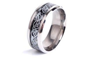 Pánský prstýnek s ornamenty - 3 barvy