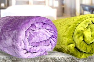 Barevné deky z mikroflanelu 150 x 200 cm