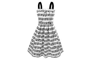 Letní šatičky pro milovnice hudby