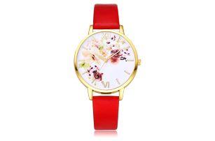 Elegantní dámské hodinky s květinovým ciferníkem