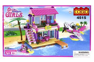 Stavebnice COGO Girls Houseboat, 423 ks