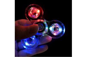 LED svítící fidget spinner