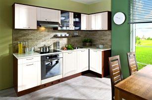 Aneta - Kuchyňský blok, 270x110 (dub tmavý/vanilka/traini beige)