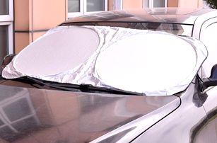 Skládací sluneční clona na čelní sklo - 135 x 60 cm - dodání do 2 dnů