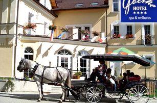Wellness pobyt pro dva v luxusním 4* Hotelu Goethe Spa & wellness Mariánské Lázně s polopenzí.