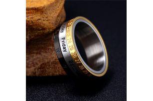 Prsten s kalendářem - velikost US 11 - dodání do 2 dnů