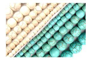 Korálky s přírodním vzorem na výrobu šperků