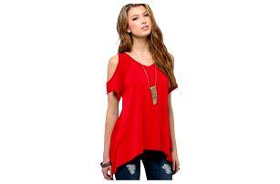 Stylové dámské tričko s odhalenými rameny - 9 barev