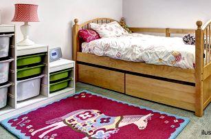 Dětská postýlka z masivu s roštem a matrací