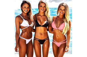 Bikini s provázky - tři barvy
