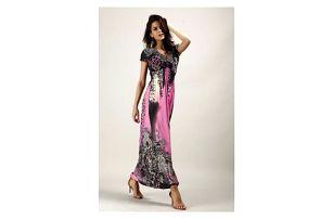 Bohémské dámské šaty s motivem leoparda - mix barev