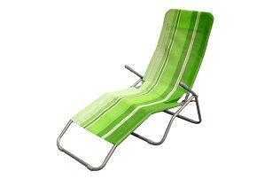 Plážové lehátko (zelený pruh)