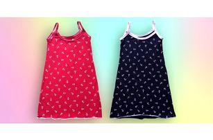 Dívčí šaty ve dvou barvách