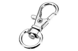 Klíčová karabina s kulatým kroužkem - 10 ks