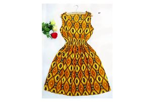 Dámské šaty s elastickým pasem a květinovým potiskem - varianta 17, velikost 5 - dodání do 2 dnů
