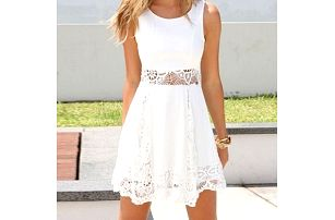 Letní bílé šatičky s krajkou - různé velikosti