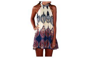 Dámské šaty s bohémským vzorem