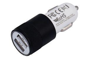 Kvalitní nabíječka do autozapalovače se dvěma USB sloty - černá barva - dodání do 2 dnů