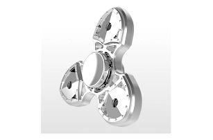 Sběratelský fidget spinner v kovovém designu