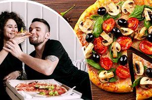 1 nebo 2 pizzy dle výběru o průměru 35 či 50 cm - osobní odběr nebo dovoz