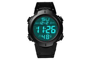 Pánské digitální hodinky s kalendářem - černá - dodání do 2 dnů