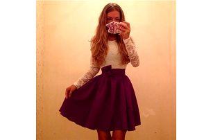 Šaty s áčkovou sukní - více variant - dodání do 2 dnů