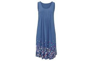 Lehké dlouhé květinové šaty pro ženy - modrá, velikost 4 - dodání do 2 dnů