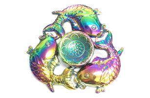 Duhový fidget spinner - rybičky