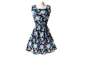 Letní šaty s hravým potiskem - varianta 23, velikost 2 - dodání do 2 dnů