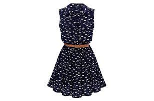 Letní šaty s páskem - velikost č. 2 - dodání do 2 dnů
